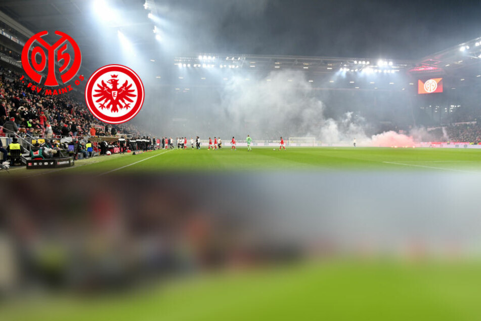 Pyro-Eklat bei Mainz gegen Frankfurt: Schiri schickt Teams in die Kabinen