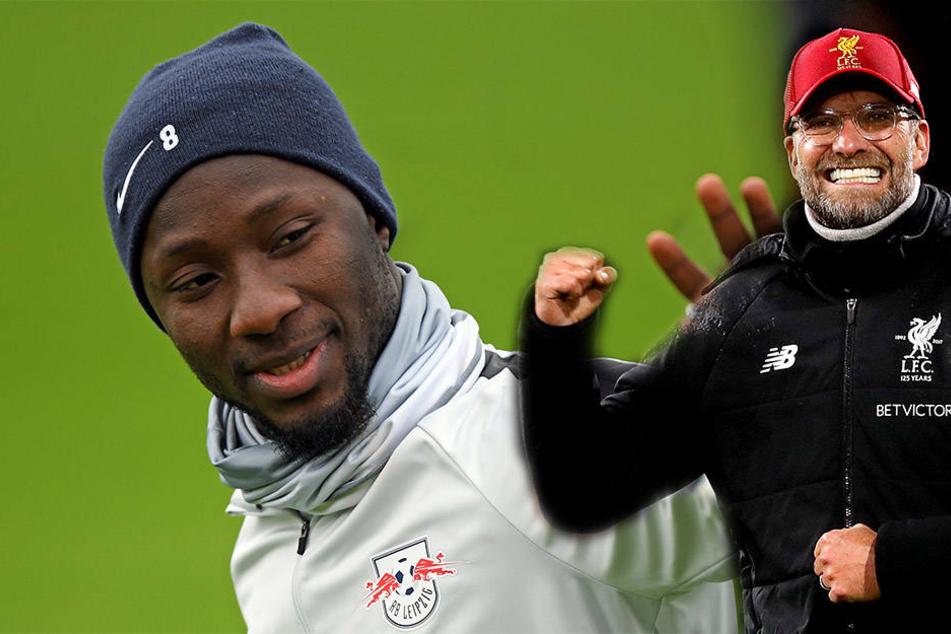Ab wann sind die beiden ein Dreamteam? Liverpools Trainer Jürgen Klopp (50, r.) will Naby Keita (22) schon im Winter, statt wie vereinbart im Sommer.