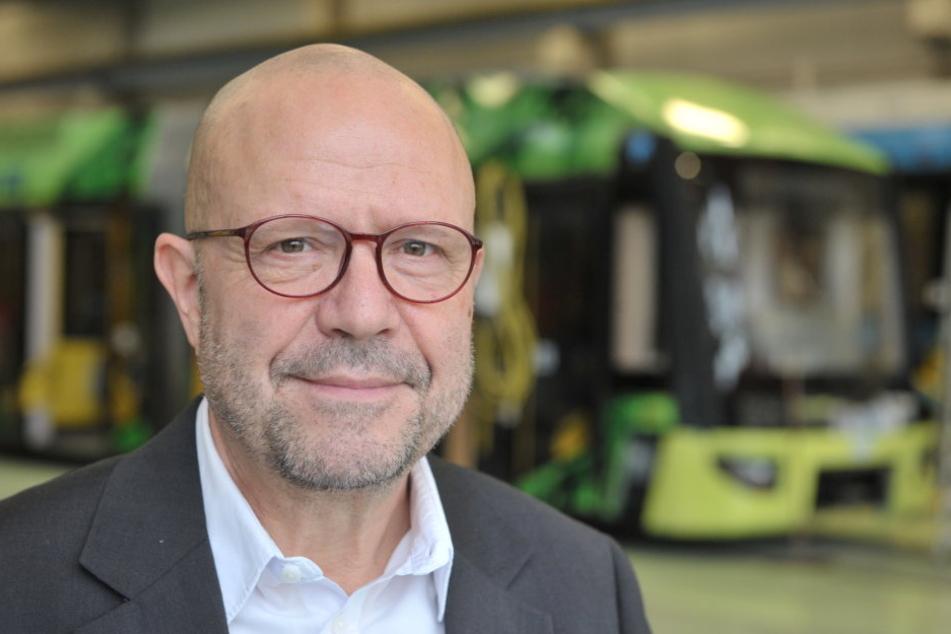 CVAG-Sprecher Stefan Tschök (59) freut sich auf mehr Fahrgäste, mehr Busse  und bessere Anbindungen.