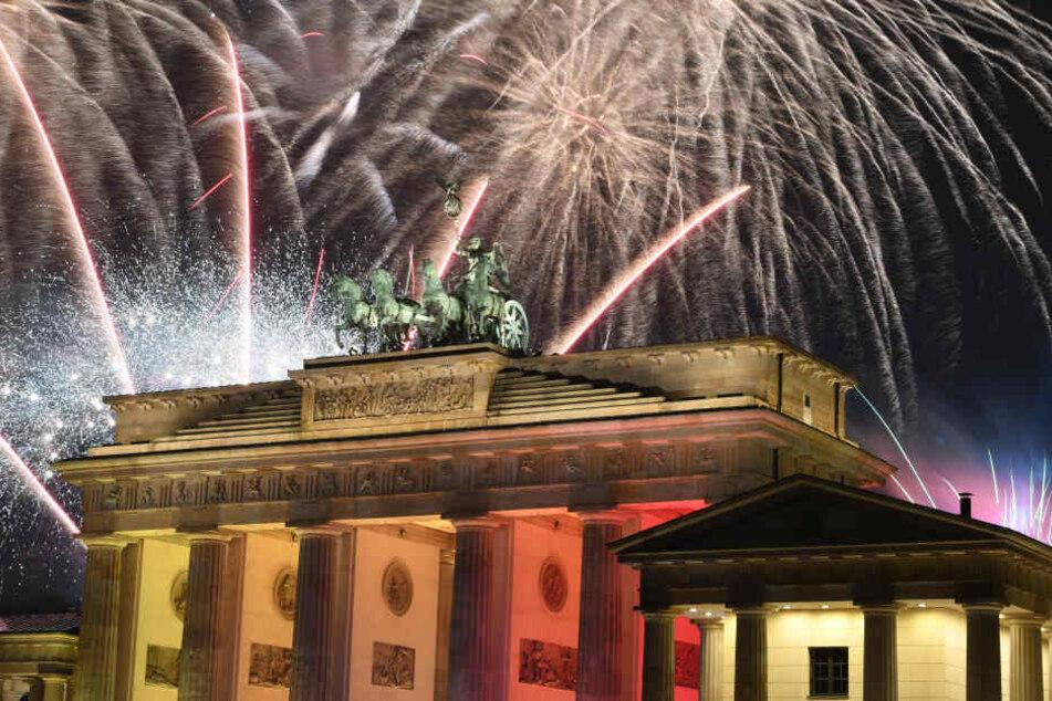 Am Brandenburger Tor wird jedes Jahr die größte Silvester-Party Deutschlands gefeiert.