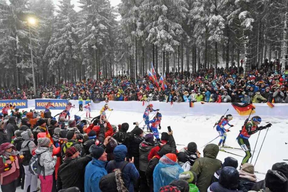 2023 kommt die Biathlon-WM zum zweiten Mal nach Oberhof. (Symbolbild)