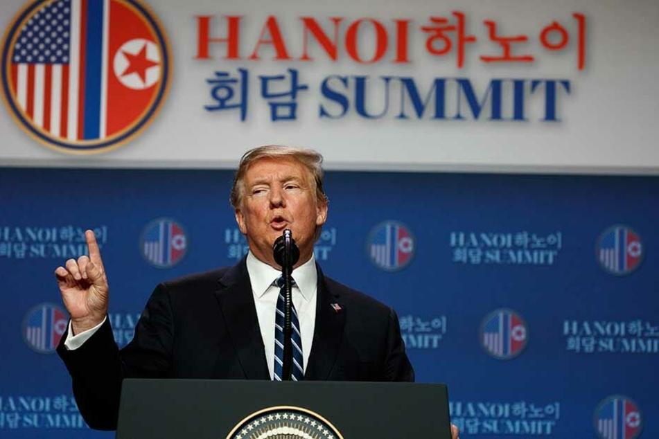 US-Präsident Donald Trump verkündete das vorzeitige Ende der Gespräche mit Nordkorea.