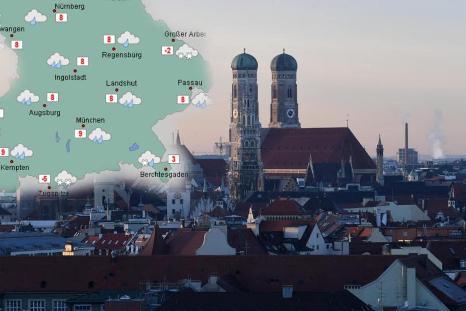 In München wird es am Heiligabend voraussichtlich nicht schneien.