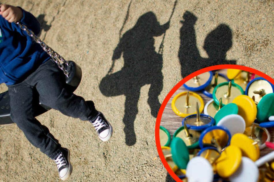Auf einem Spielplatz in Prenzlauer Berg wurden Dutzende Reißnägel im Sand vergraben. (Symbolbild)