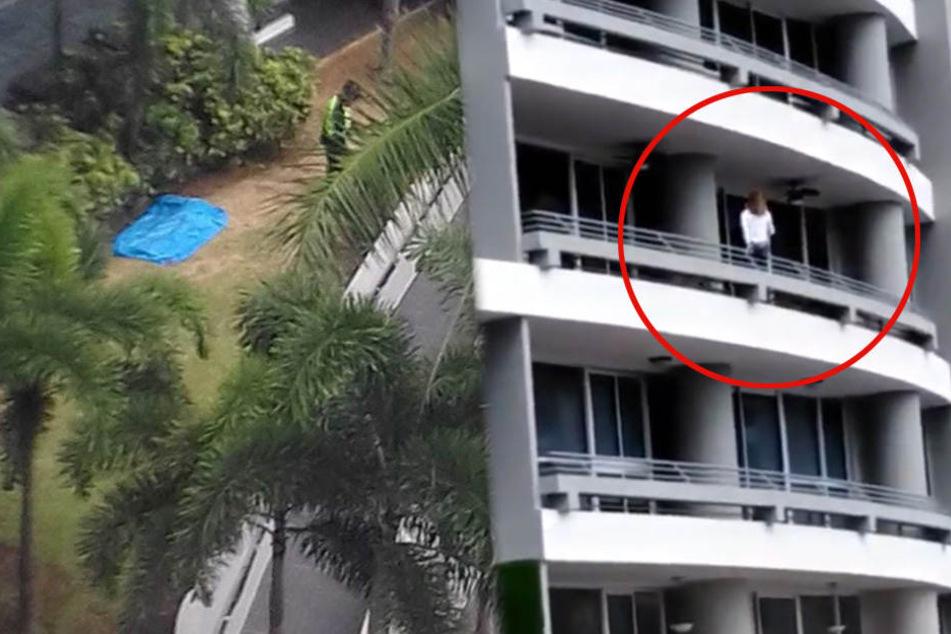 Balkon-Selfie endet tödlich: Mutter (44) stürzt aus 27. Stock