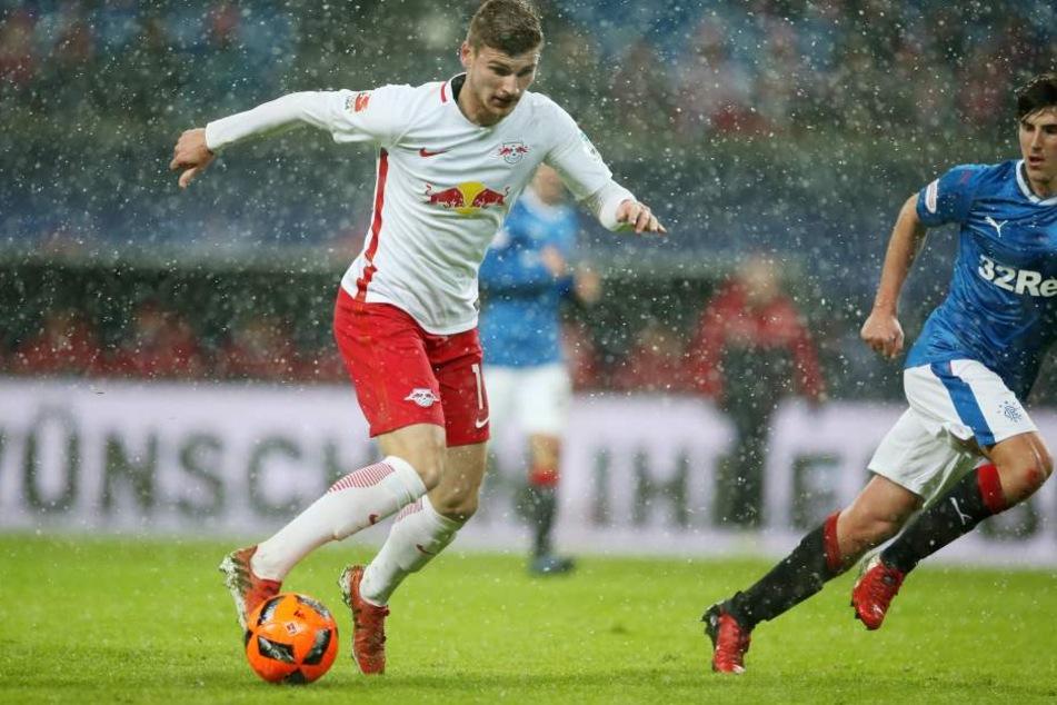 Torjäger Timo Werner erzielte in der Liga bereits neun Treffer.