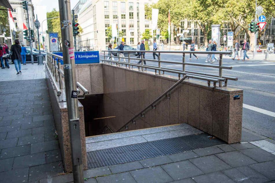 Der lebensgefährlich verletzte Mann wurde in der Nähe der Düsseldorfer Königsallee gefunden (Archivbild).