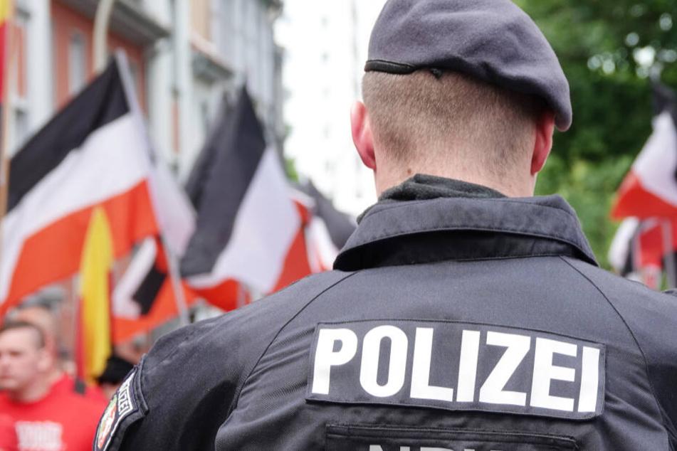 """Das Foto aus dem Mai 2019 zeigt eine Demonstration der Partei """"Die Rechte"""" in Dortmund."""