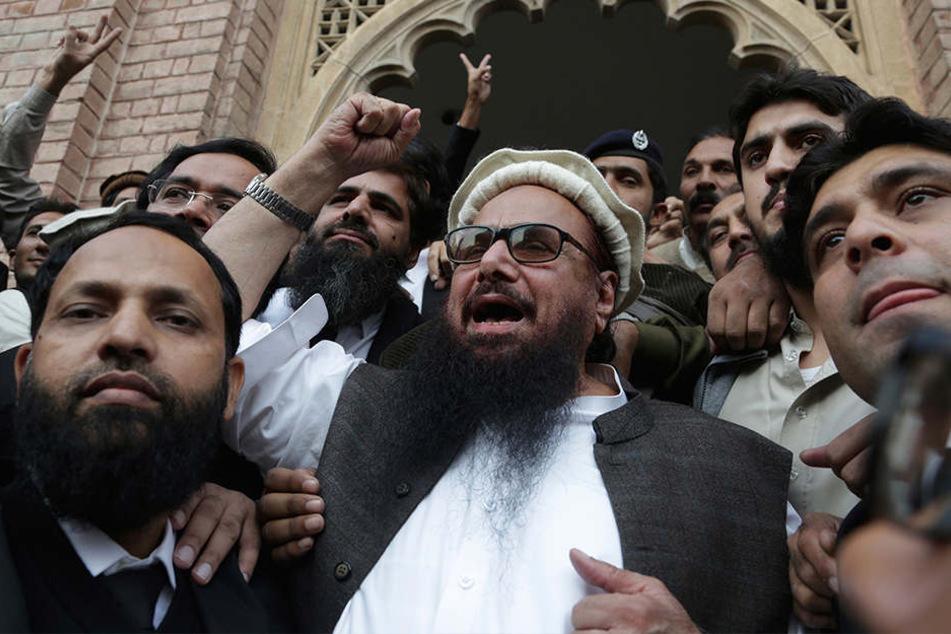 Hafiz Saeed gilt als einer bekanntesten radikalen Islamisten des Landes und wird in Verbindung mit der Terrorgruppe Lashkar-e Toiba gebracht.