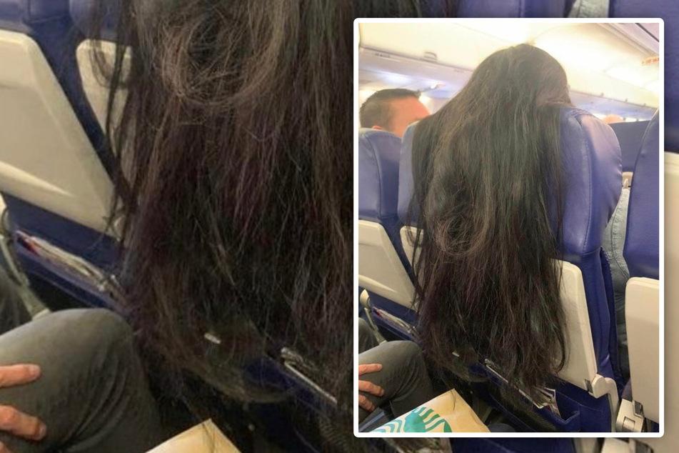 """""""Würde Euch das wütend machen?"""" Haar-Foto aus dem Flugzeug sorgt für Diskussionen"""