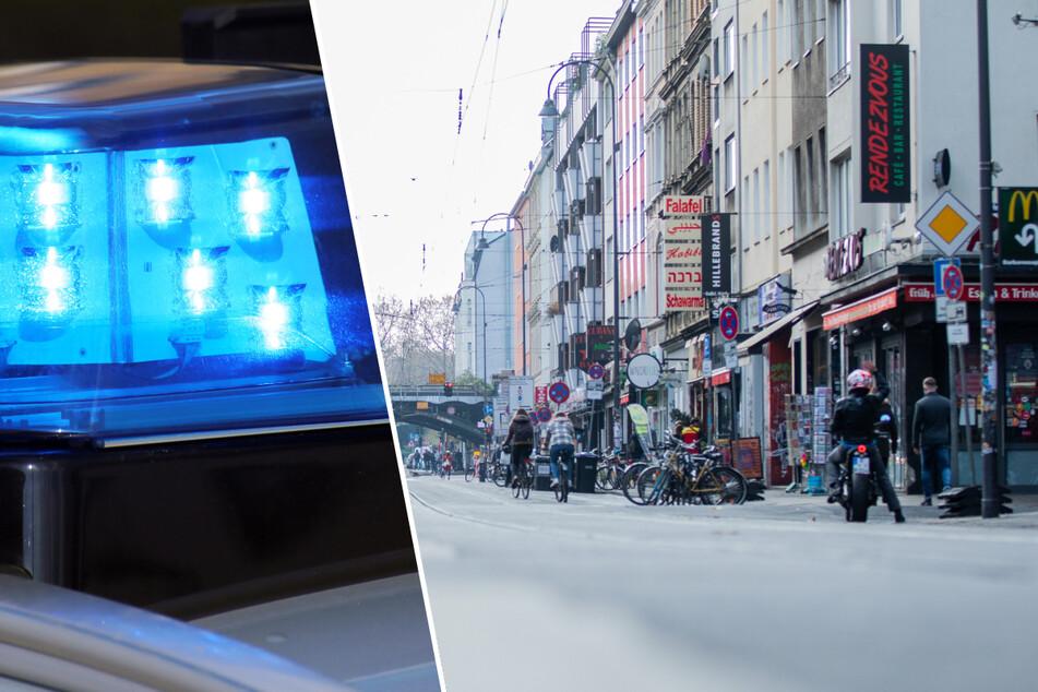 Auf der Zülpicher Straße in der Kölner Innenstadt ist es zu einer Schlägerei gekommen, die Polizei musste eingreifen. (Symbolbild)