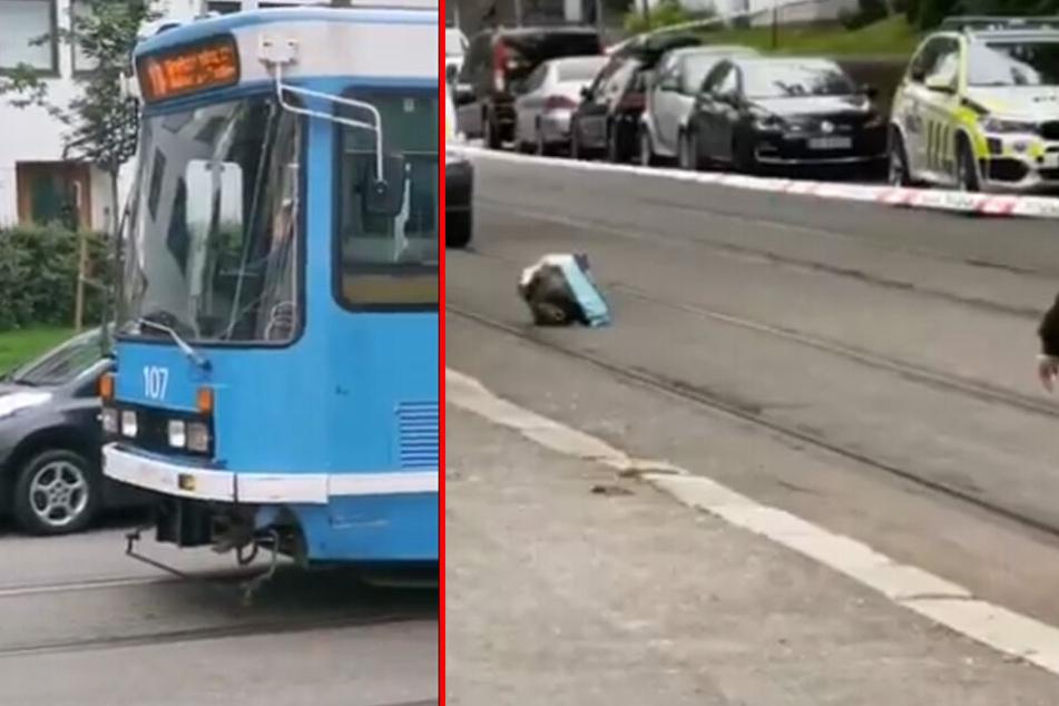 Der Täter hatte einen Straßenbahnfahrer bedroht. In seiner Tasche soll sich eine Handgranate befunden haben.