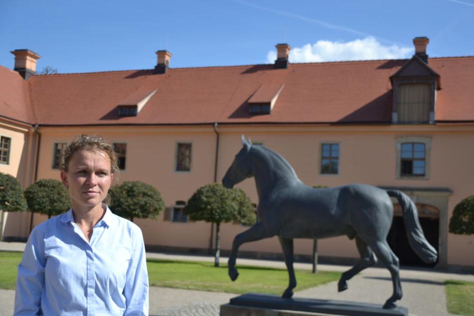 Landesstallmeisterin Kati Schöpke (39) musste schweren Herzens die Parade absagen.