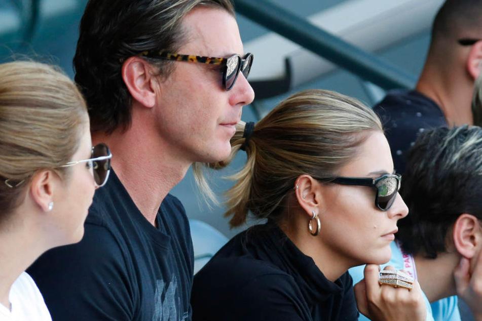 Sophia und Gavin schauen sich ein Tennis-Match der ATP-Tour in Indian Wells, USA, an.