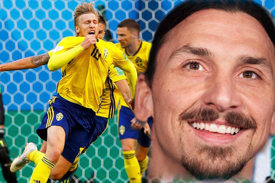 Ibrahimovic kann stolz sein: Schweden besiegt Schweiz mit Dusel-Tor