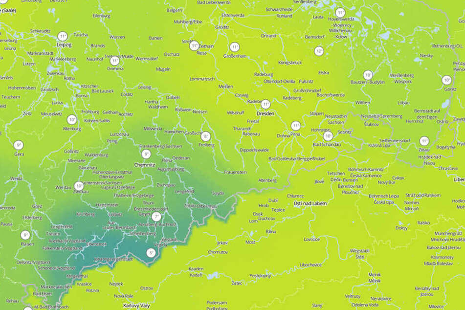 Die Temperaturen bleiben frisch in Sachsen, am kältesten ist es aber im Erzgebirge.