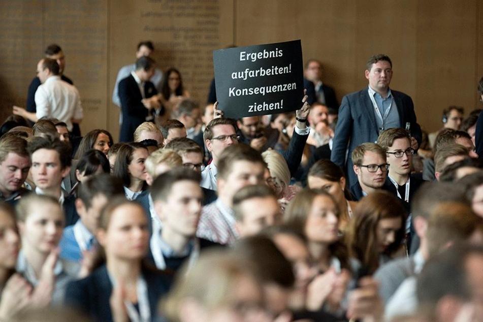 Der Streit um den Kurs der CDU ist in vollem Gange - wie hier beim  Bundesparteitag der Jungen Union in Dresden.