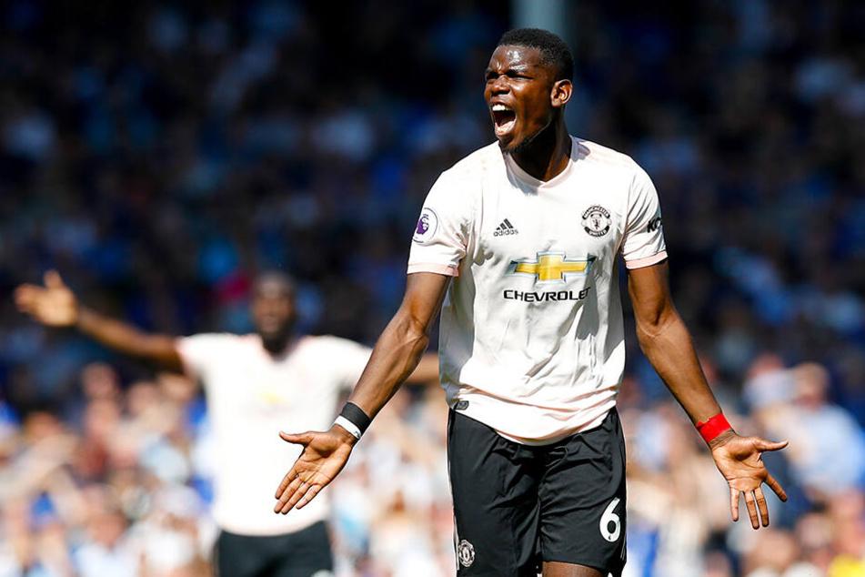 Paul Pogba im April diesen Jahres beim Spiel gegen Liga-Kontrhenten FC Everton.