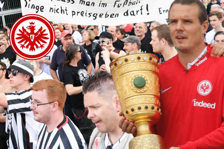 """Eintracht-Fans demonstrieren für neuen Vertrag ihres """"Fußballgotts"""""""