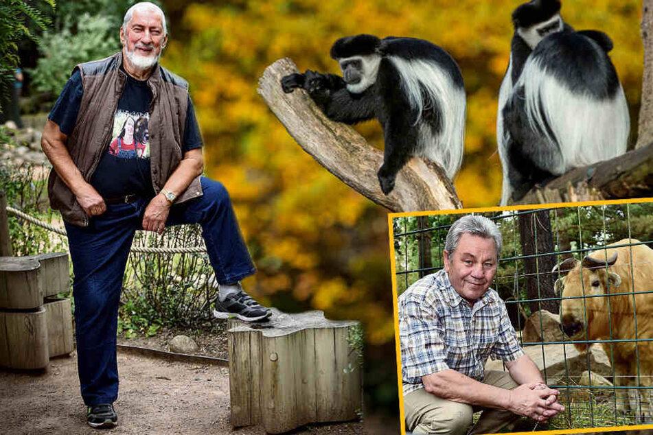 Dresden: Tierpaten-Treff im Dresdner Zoo: Gönner auf Stippvisite