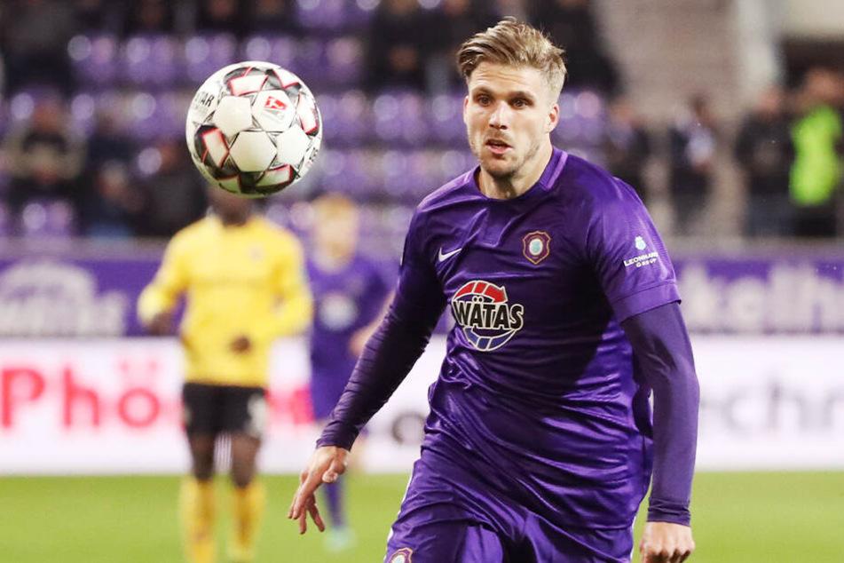 Philipp Zulechner hat seinen Vetrag mit Aue bis 2020 verlängert.