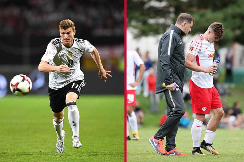 Beim Testspiel gegen Konyaspor verletzten sich Timo Werner und Marcel Sabitzer. Beide fallen vorerst aus.