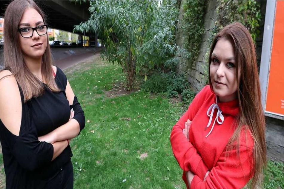 Mutige Heldinnen: Linda Cariglia (20, v.l.) und Karolina Smaga zeigten Zivilcourage und verhinderten die Vergewaltigung in der Nähe des Bielefelder Bahnhofs.