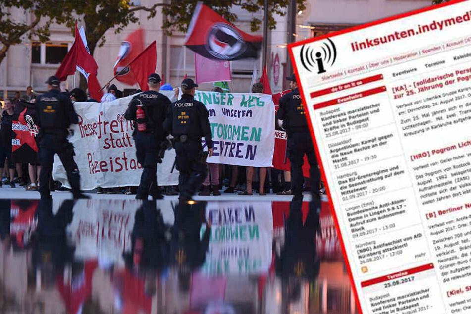 Anhänger der linken Szene haben bereits in Freiburg gegen das Verbot der linksextremen Internetplattform protestiert. Nun ziehen auch die Betroffenen vor Gericht.