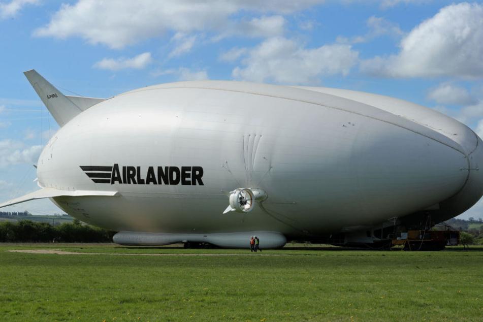 Der Airlander wurde bei einem Unfall beschädigt.