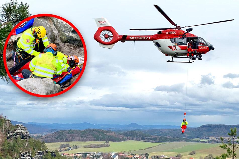 Mehrere Rettungsflüge in Sächsischer Schweiz: Das ist passiert!