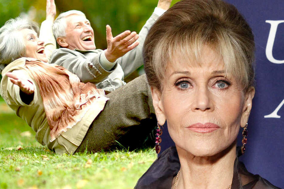 """Jane Fonda ist der Meinung, dass es einige nicht gern sehen, """"wenn alte Menschen in Filmen jemanden küssen oder Sex mit anderen alten Menschen haben."""""""