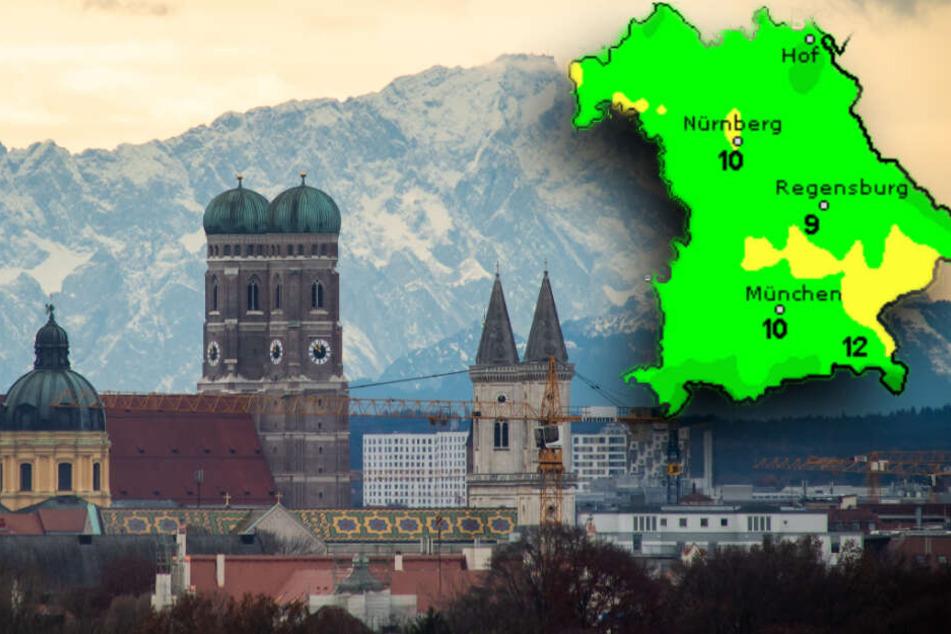 Föhn und Schnee: So wird das Wetter in Bayern