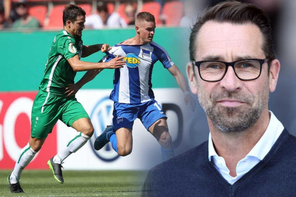 Michael Preetz hat das Saisonziel von Hertha BSC verraten. (Bildmontage)