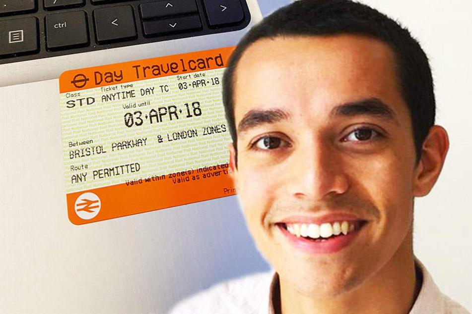 Tom Church brachte das Foto einer überteuerten Bahnfahrkarte auf eine kluge Idee.