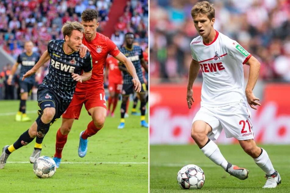 Matthias Bader (l) und Vincent Koziello könnten den 1. FC Köln in der Winterpause verlassen.