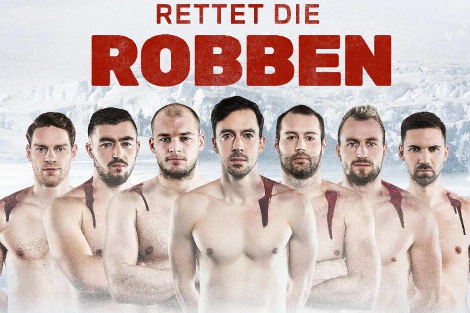 """""""Rettet die Robben"""": Klare Botschaft der Sportler."""