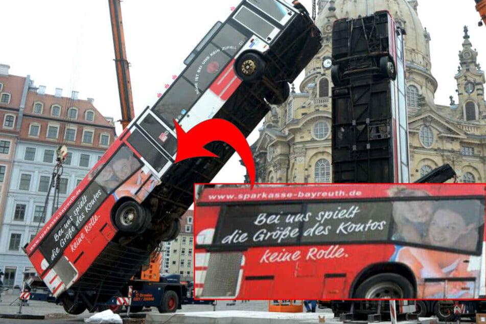 Die Sparkasse Bayreuth erfuhr erst mit der Einweihung der Busse von ihrem fetten Werbebanner.