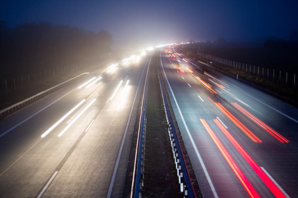 Die Autobahn A7 bei Neumünster
