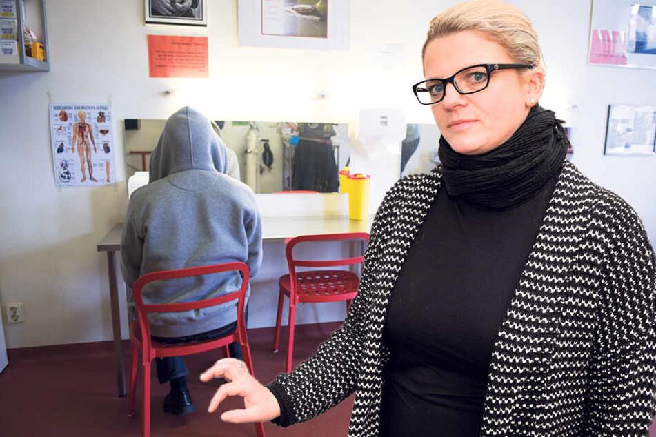 Susanne Schaper (39, Linke) setzt sich für Drogenkonsumräume in der Stadt ein.