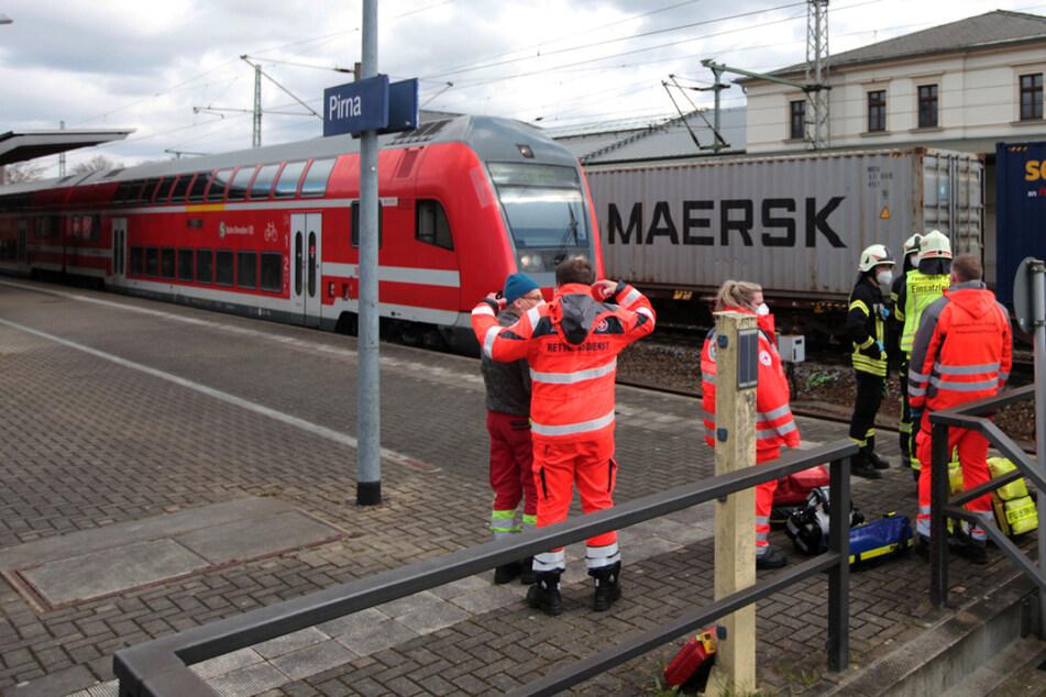 Tödlicher Bahnunfall in Pirna: 78-jähriger Mann wird von Zug erfasst