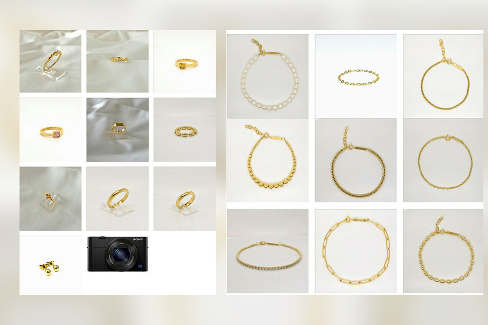 Einige der insgesamt 90 gestohlenen Schmuckstücke: Die Polizei fahndet im Internet nach dem Diebesgut.