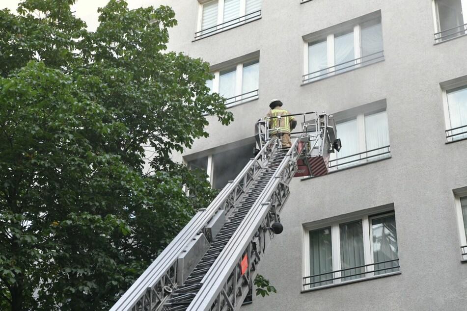 Da Feuer war im vierten Stock eines Wohnhauses ausgebrochen.