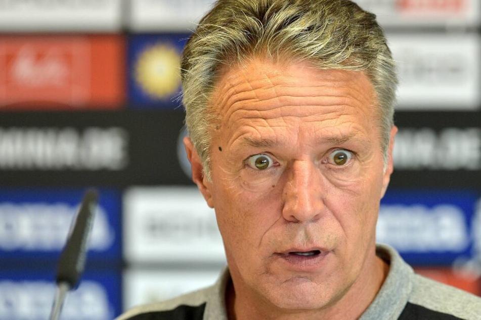 DSC-Coach Uwe Neuhaus möchte den Beweis geliefert bekommen, dass es Bielefeld nicht gibt.