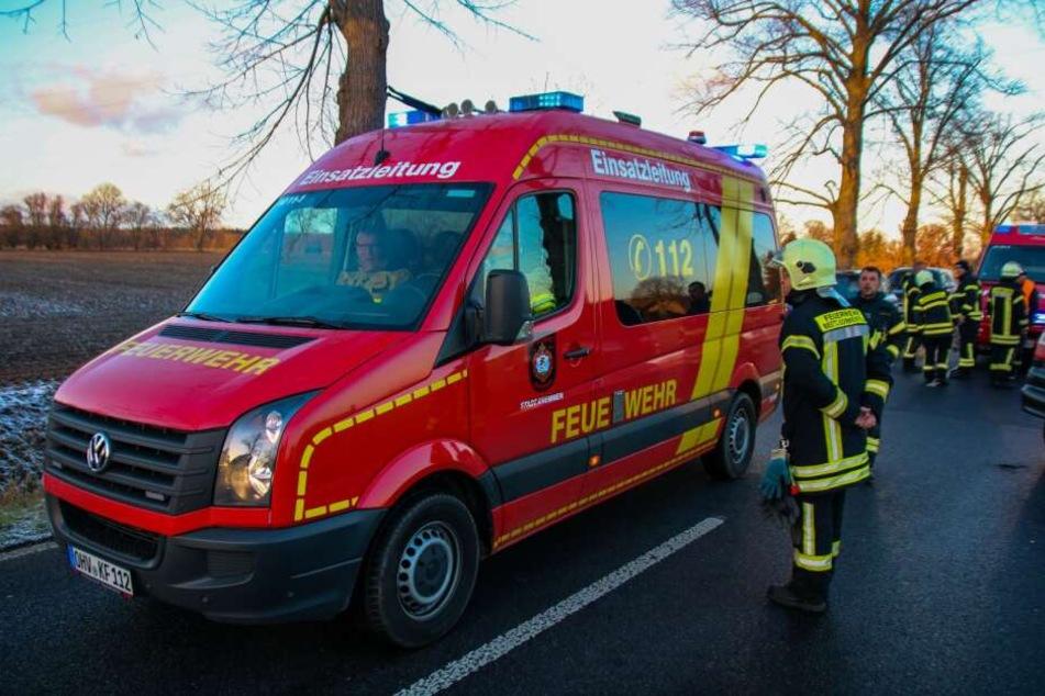 Die Feuerwehr musste am Montagnachmittag zu einem Unfall in Oranienburg ausrücken.