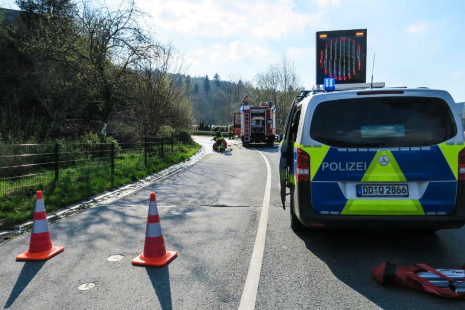 Der Fahrer war von Bockau nach Aue unterwegs. In einer Rechtskurve kam er in den Gegenverkehr.