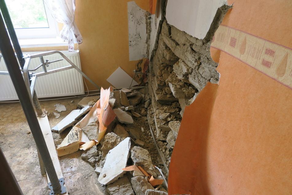Auch im Inneren des Gebäudes hinterließ der Aufprall Spuren!