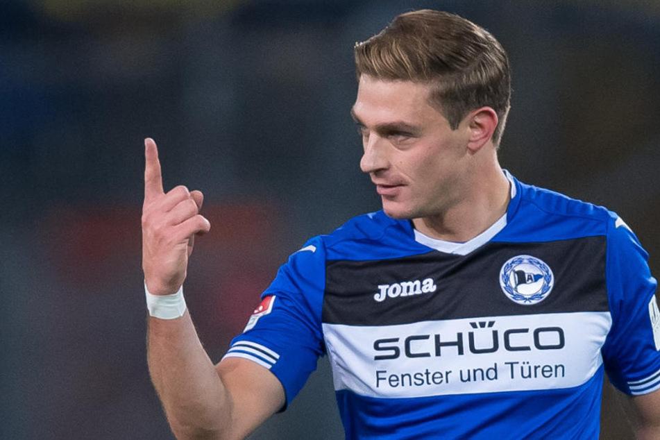 Knapp fünf Jahre später bestreitet er nun sein 100. Spiel in der 2. Bundesliga für Arminia Bielefeld.