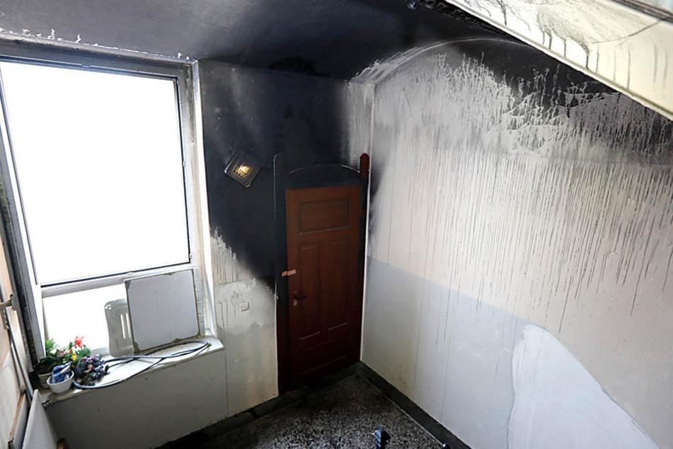In einem nicht abgeschlossenen Abstellraum brach ein Feuer aus.