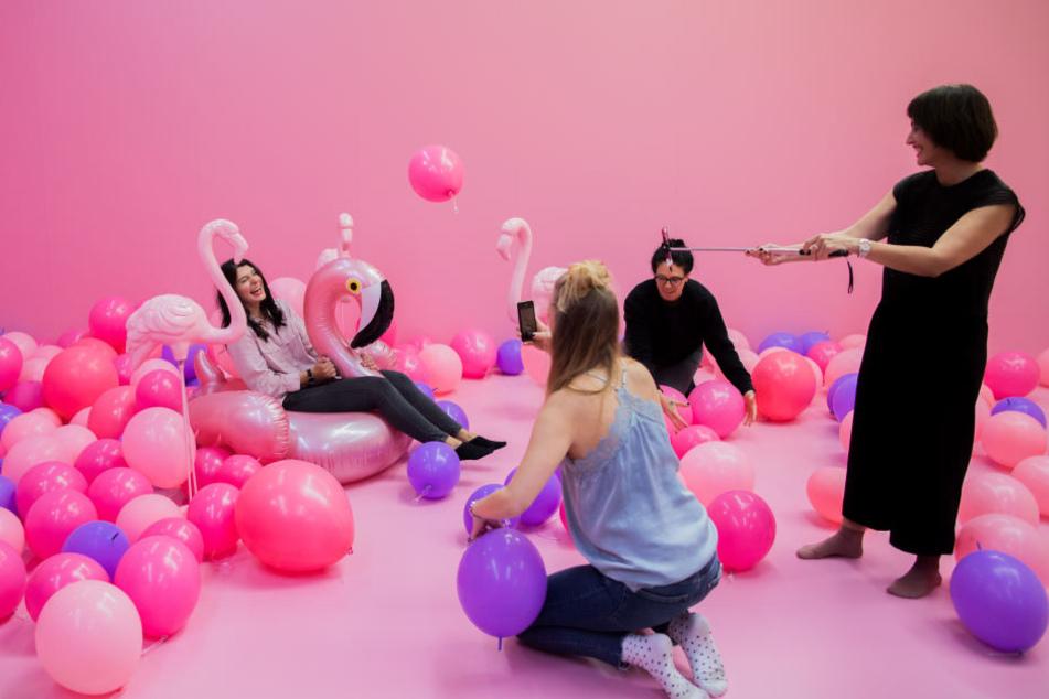 Hauptsache pink: In dem Supercandy House sind alle Fotowelten zwischen rosa und lila designt.