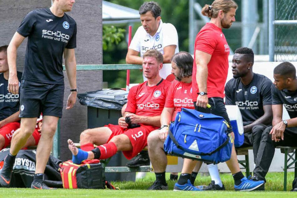 Fabian Klos verletzte sich amSprunggelenk, kann aber wohl wieder ins Training einsteigen.